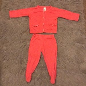 Any girl pajama set size 9 month